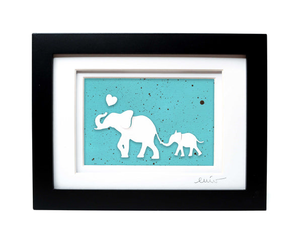 Elephant and Baby Full Papercut