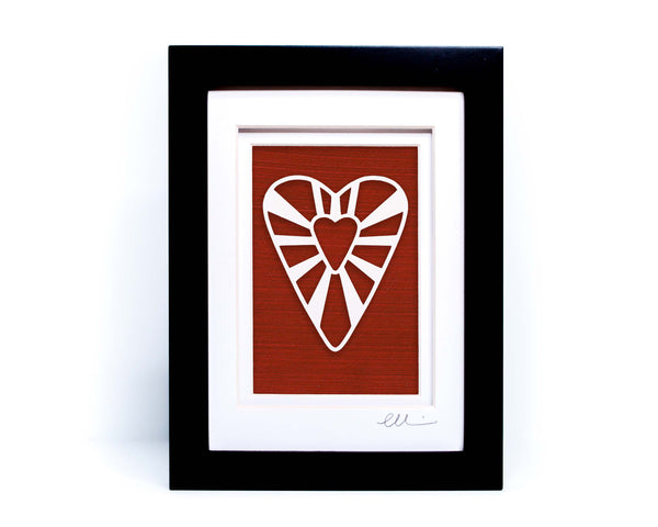 Folk Heart Paper Cut