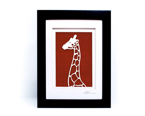 Giraffe Head Papercut