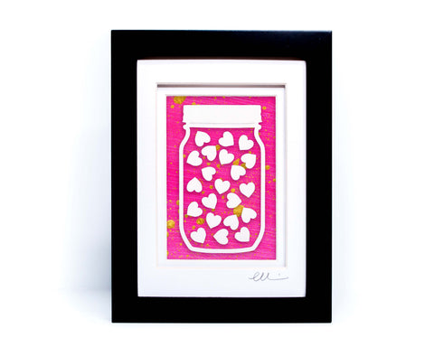 Jar of Hearts Paper Cut