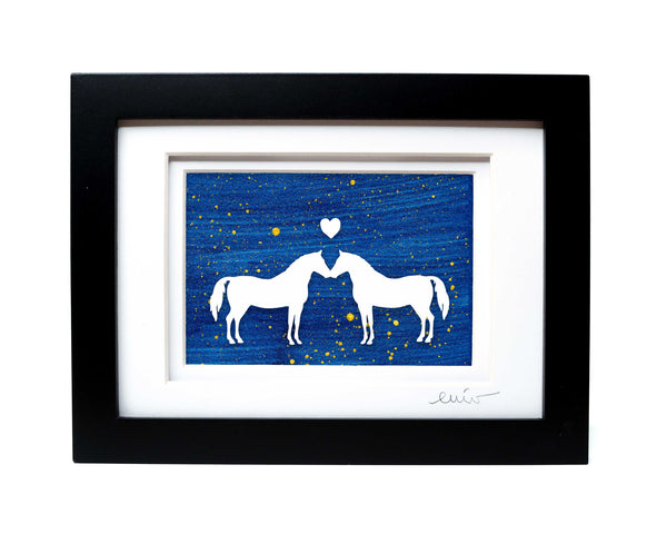 Kissing Horses Papercut