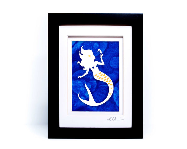 Mermaid Papercut
