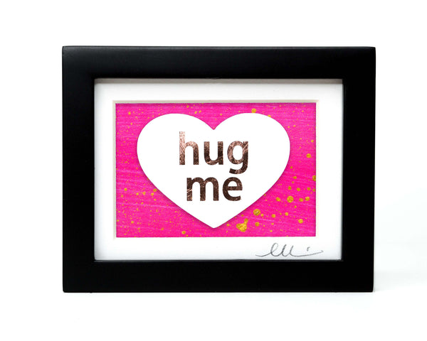 Candy Heart Hug Me Paper Cut