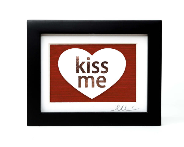 Candy Heart Kiss Me Paper Cut