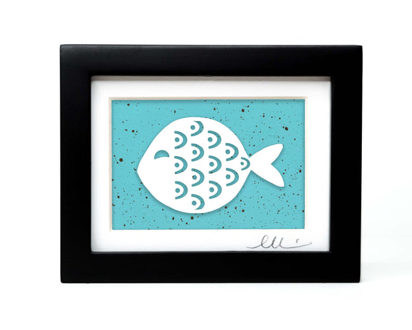 Patterned Fish Papercut
