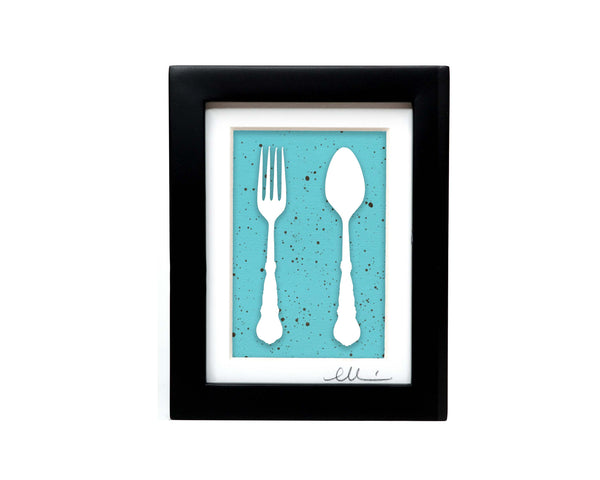 Fork and Spoon Paper Cut