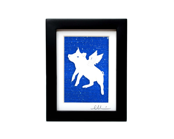 Flying Pig Papercut