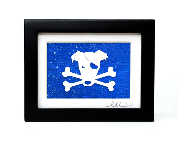 Pirate Dog Papercut