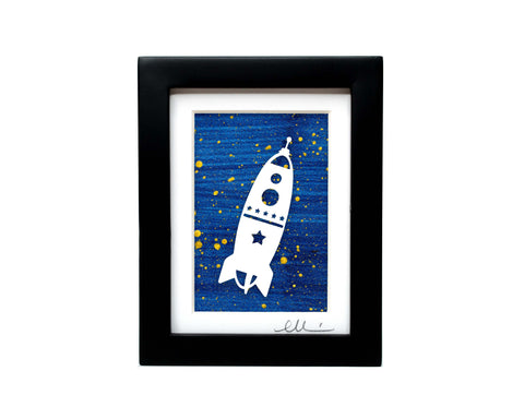 Rocketship Paper Cut