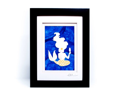 Mermaid with Mirror Papercut