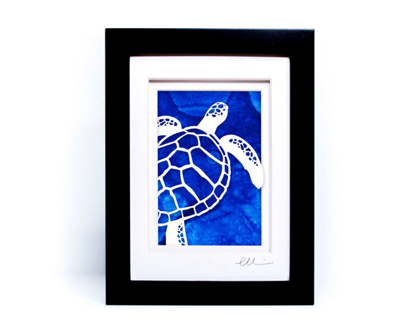 Sea Turtle Papercut