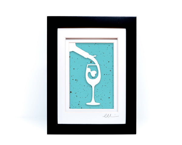 Wine Glass Paper Cut
