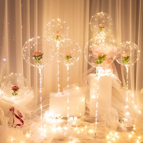 Luminous Led Balloon Rose Bouquet