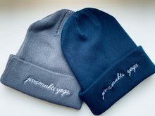 Load image into Gallery viewer, Jivamukti Yoga Beanie - 100% Organic Fairtrade Cotton