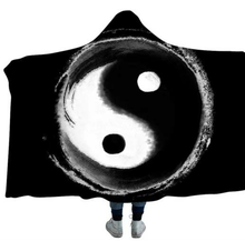 Load image into Gallery viewer, Yin Ying Hooded Blanket