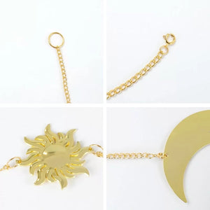 Sun Moon Earth Gold Hanging