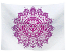 Load image into Gallery viewer, Lotus Mandala Tapestry