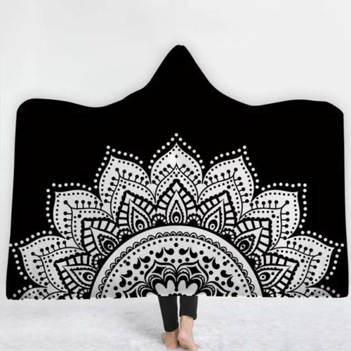 Mandala Lotus Hooded Blanket