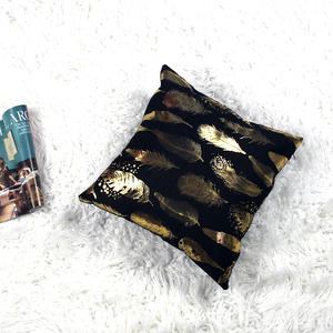 Metallic Feathers Pillow (pair)