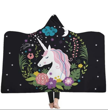 Load image into Gallery viewer, Unicorn Hooded Blanket