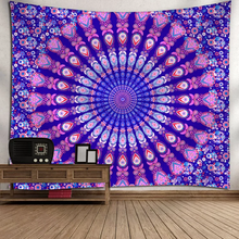 Load image into Gallery viewer, Peacock Circle Tapestry