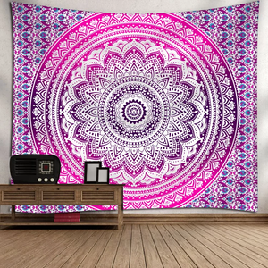 Bright Mandala Tapestry