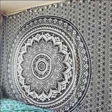 Load image into Gallery viewer, Monochrome Mandala Tapestry