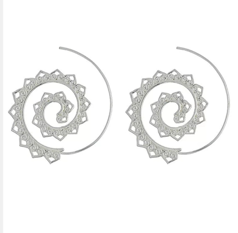 Heart Spiral Earrings