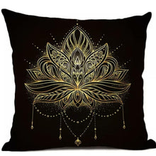 Load image into Gallery viewer, Feathers Mandala Pillow (pair)