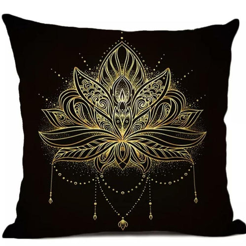 Feathers Mandala Pillow (pair)