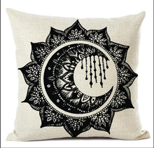 Load image into Gallery viewer, Mandala moon drop Pillow Cover (pair)