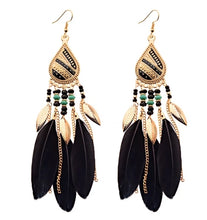 Load image into Gallery viewer, Tear Drop Feather Earring