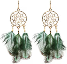 Load image into Gallery viewer, Spider Feather Earrings