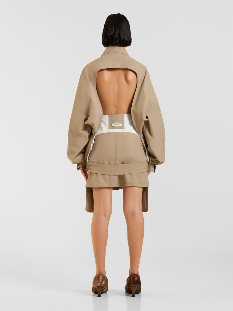 Sand Backless Jacket