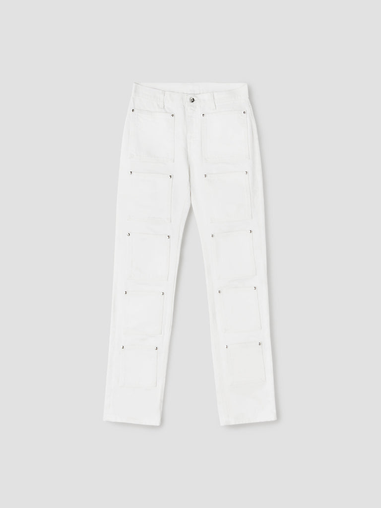 White Multipocket Denim