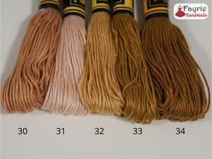 Huge skeins of embroidery floss - 45 to 50 yards each