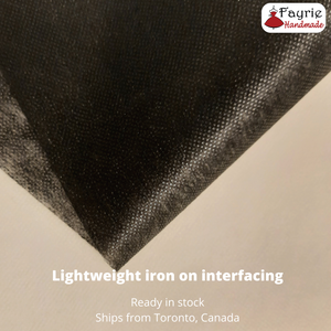 Black Lightweight Iron-on Fusible Interfacing - 40 inches wide