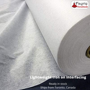 White Lightweight Iron-on Fusible Interfacing - 36 inches wide