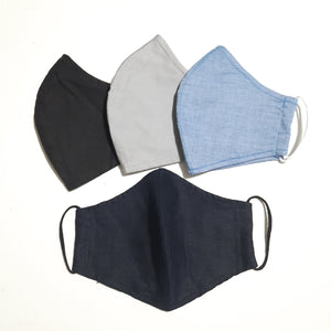 Men's 3-layer fabric face mask with filter pocket, face mask for men, face mask Canada, ship USA
