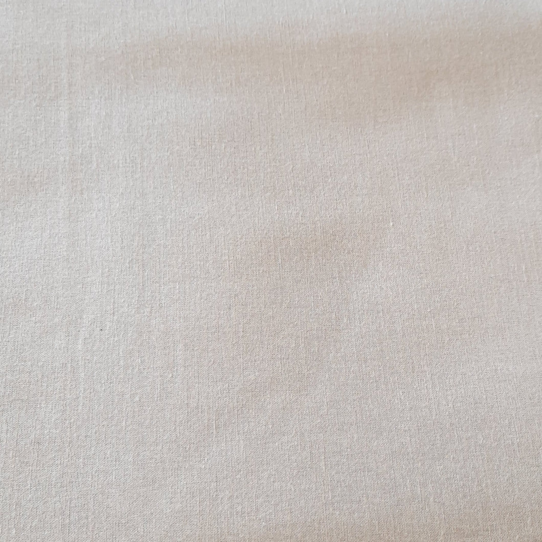 Beige cotton linen - fabric for embroidery, sewing and crafts