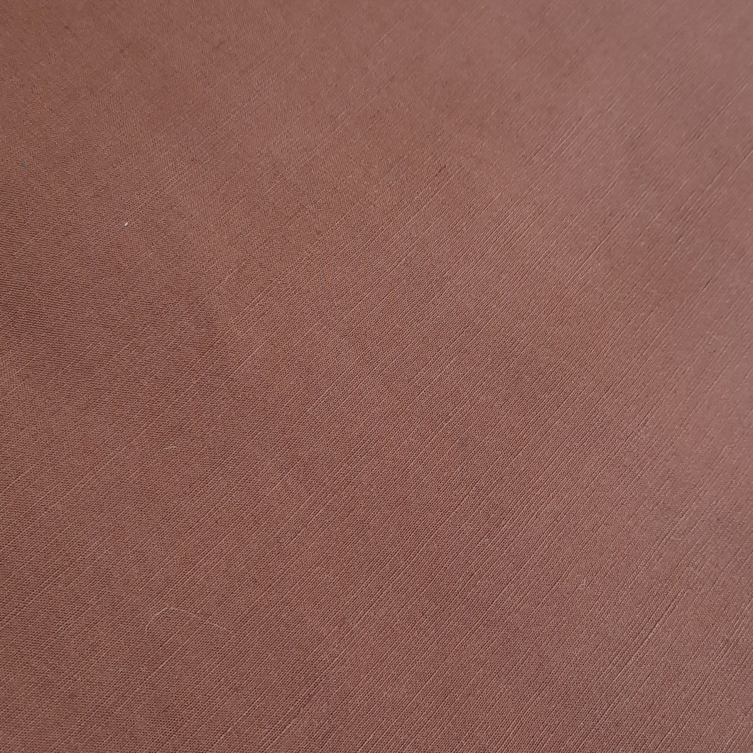 Brown cotton linen - fabric for embroidery, sewing and crafts