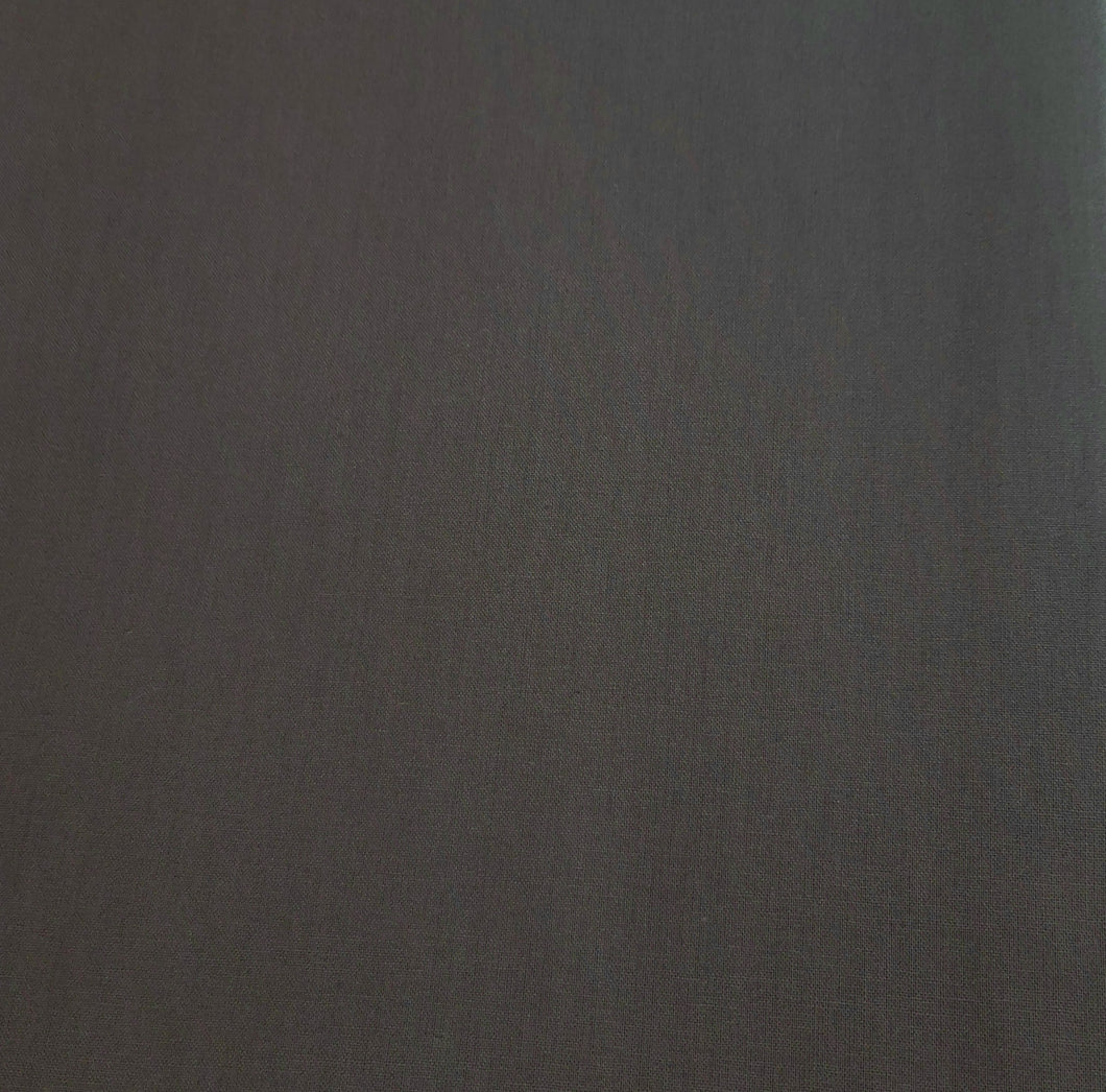 Dark gray cotton linen - fabric for embroidery, sewing and crafts