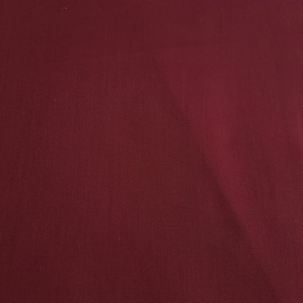 Burgundy cotton linen - fabric for embroidery, sewing and crafts