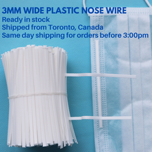 Load image into Gallery viewer, 5 yards 3mm Wide Plastic Nose Wire