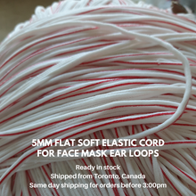 Load image into Gallery viewer, 10 yards Soft Flat Elastic Cord