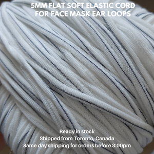 10 yards Soft Flat Elastic Cord