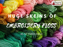 Load image into Gallery viewer, Huge skeins of embroidery floss - 45 to 50 yards each