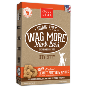 Wag More Bark Less Itty Bitty Grain Free Oven Baked Dog Treats