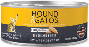 Hounds and Gatos Cat Cans