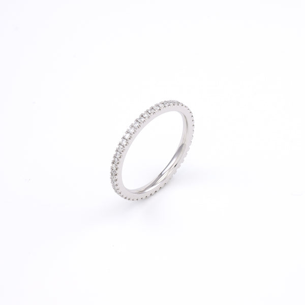 14KT White Gold 0.37CT Round Diamond Eternity Band